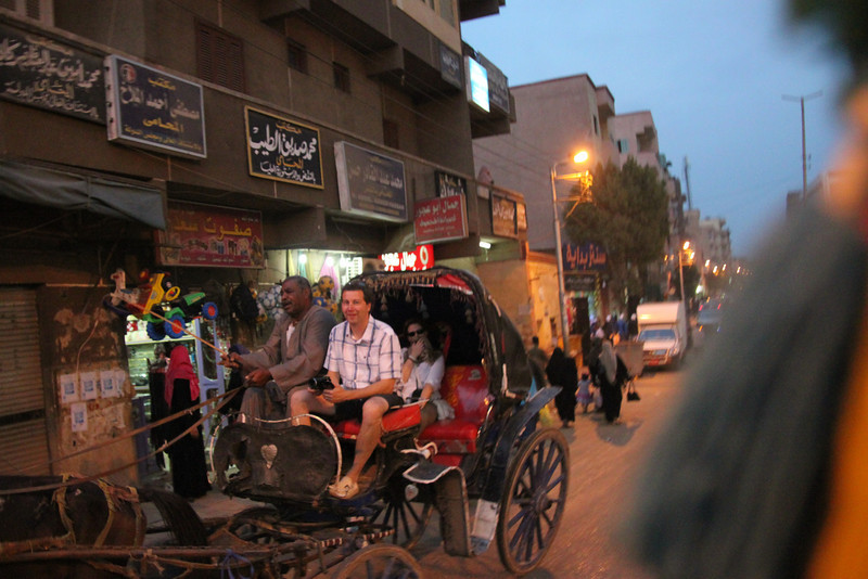 Neil on carriage ride to Edfu temple