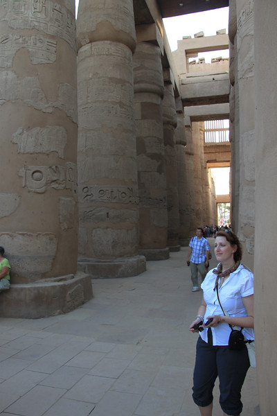 Jennine at Temple of Amon Ra in Karnak
