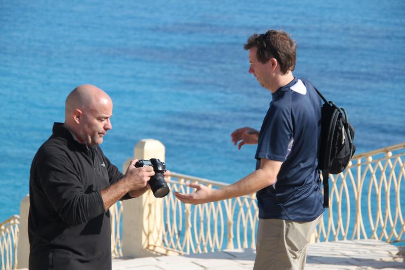 Ralph and Neil at Agiba Beach