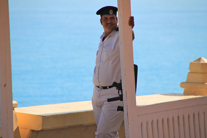 guard at Agiba Beach