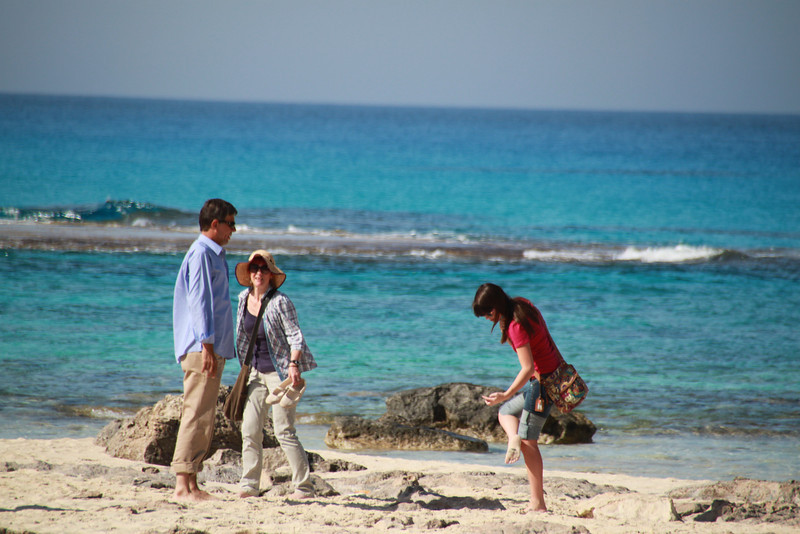 Hasham, Leslie and Evie at Cleopatra's Beach