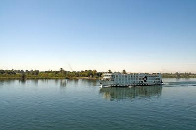 Cruise Boat trudging the Nile River - Nile, Egypt
