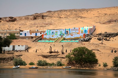 Its lands lie partly in Egypt and partly in Sudan, and most of the northern region was submerged in 1971 when the Aswan High Dam was opened and a section of the Nile Valley flooded to form Lake Nasser.