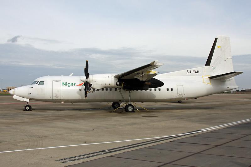 "SU-YAH Fokker F-50 ""Leasing Company"" c/n 20123 Maastricht/EHBK/MST 25-02-17 ""Niger Airlines"""