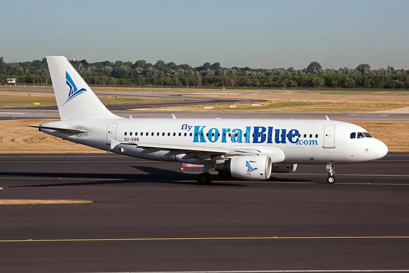"SU-KBB Airbus A319-112 ""Koral Blue"" c/n 3171 Dusseldorf/EDDL/DUS 16-07-10"