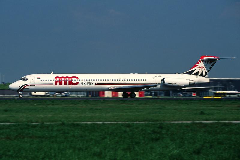"""SU-BOZ Douglas MD-83 """"AMC Airlines"""" c/n 53192 Amsterdam/EHAM/AMS 22-04-05 (35mm slide)"""