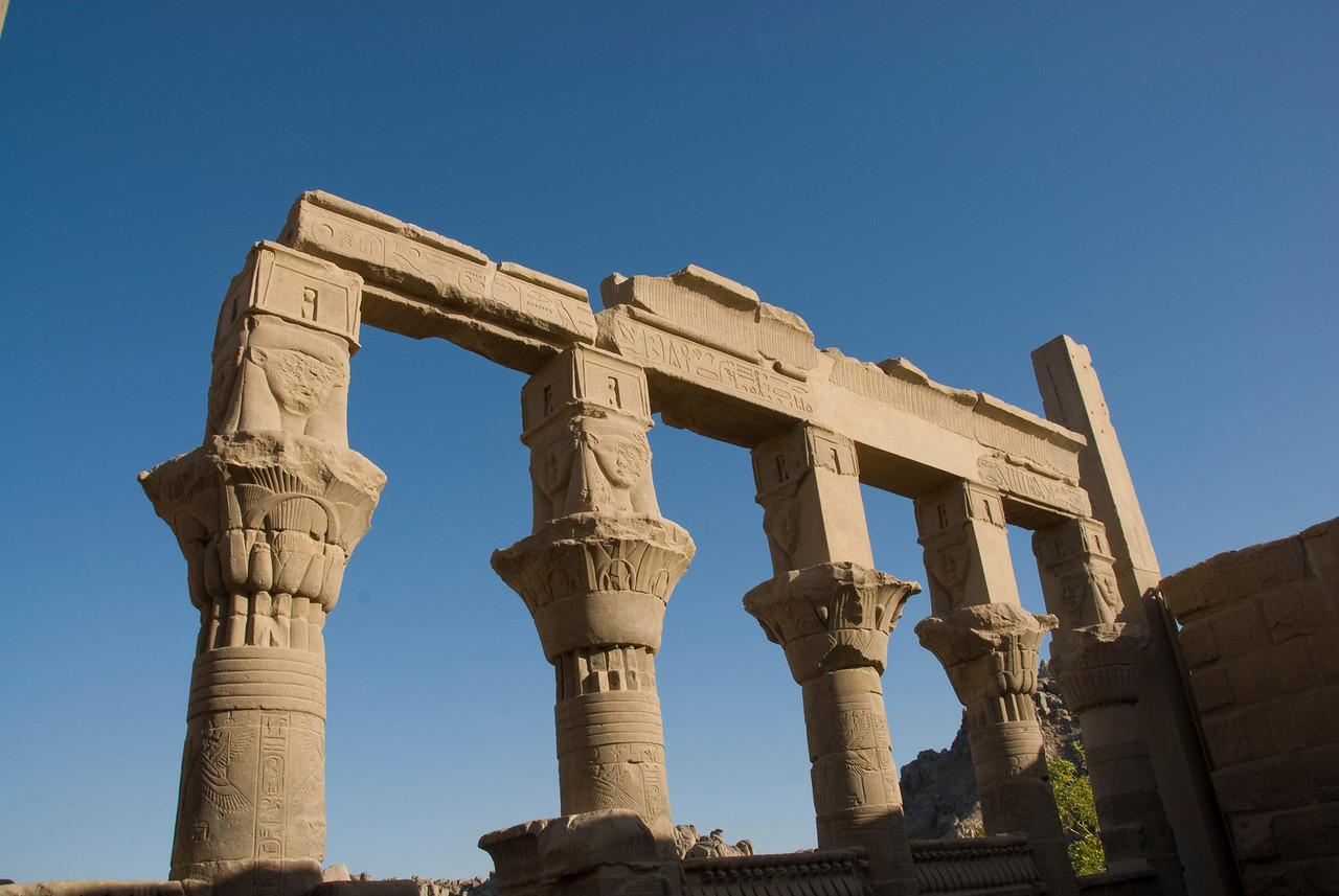 Pillars 4 - Philae Temple, Aswan, Egypt