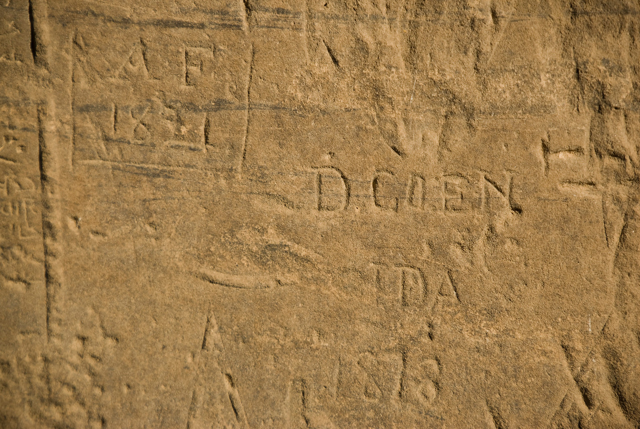 British Graffiti 1881 - Philae Temple, Aswan, Egypt