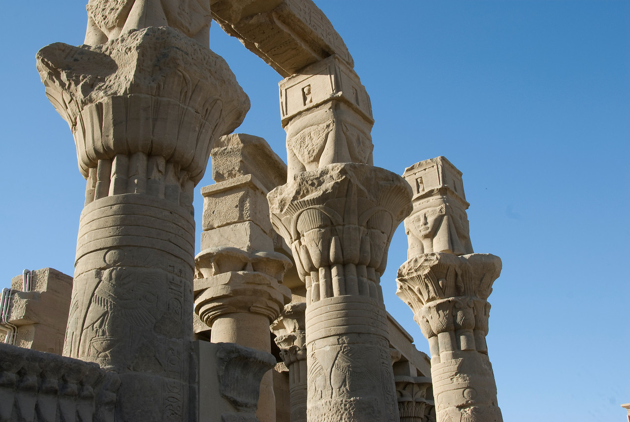 Pillars - Philae Temple, Aswan, Egypt