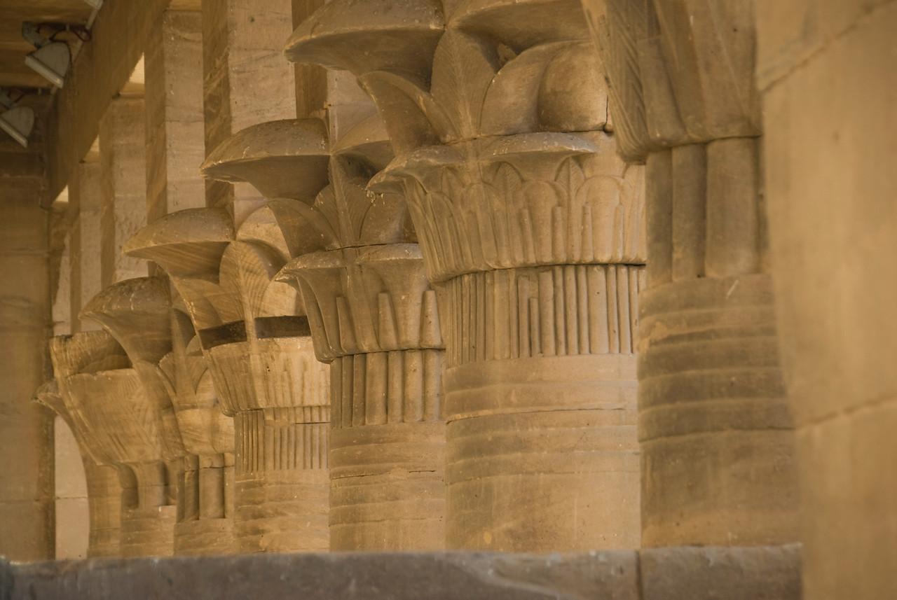 Pillars 9 - Philae Temple, Aswan, Egypt