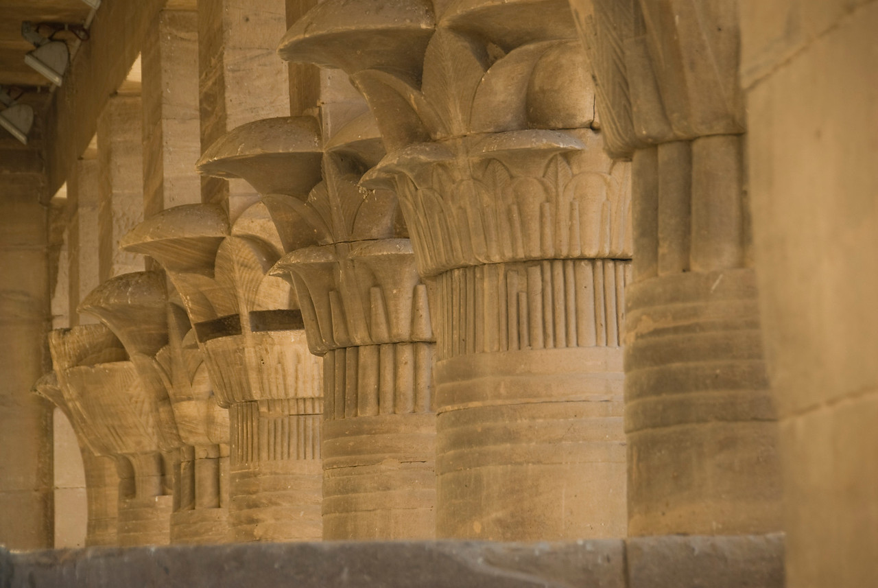 Pillars 9 - Philae Temple, Aswan, Egypt
