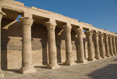 Pillars 2 - Philae Temple, Aswan, Egypt
