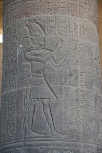 Hieroglyph on Pillar - Philae Temple, Aswan, Egypt