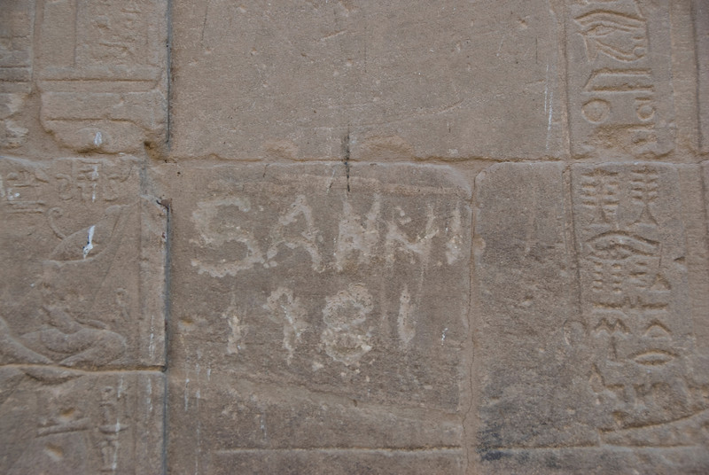 Graffiti 1981 - Philae Temple, Aswan, Egypt