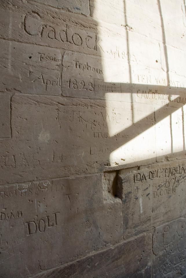 British Graffiti 1823 - Philae Temple, Aswan, Egypt