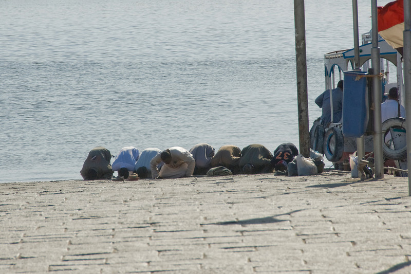 Men Praying - Philae Temple, Aswan, Egypt