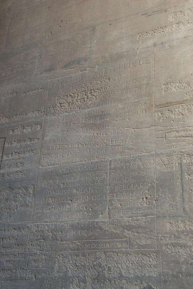 French Inscription 2 - Philae Temple, Aswan, Egypt