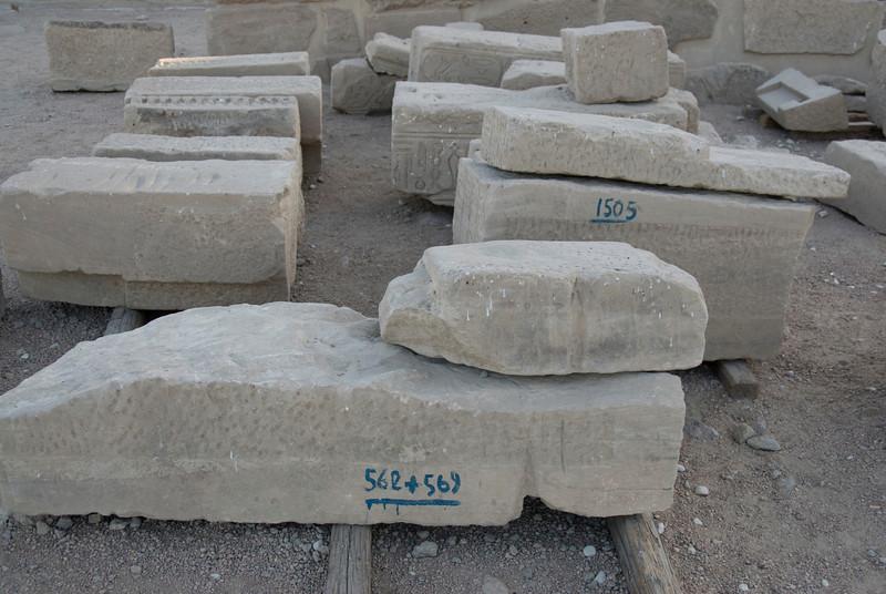 Stones for Reconstruction - Philae Temple, Aswan, Egypt