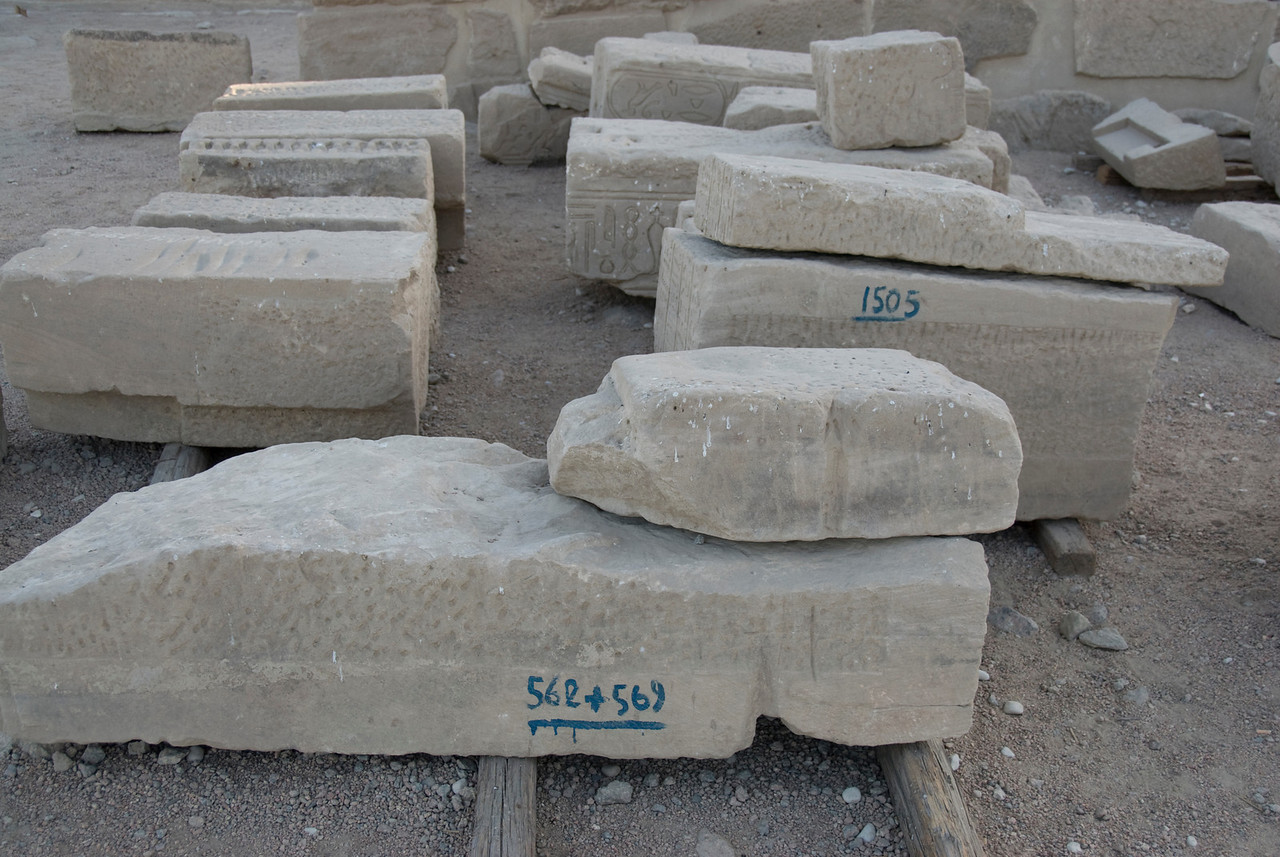 Stones for Reconstruction - Philae Temple, Aswan, Egypt