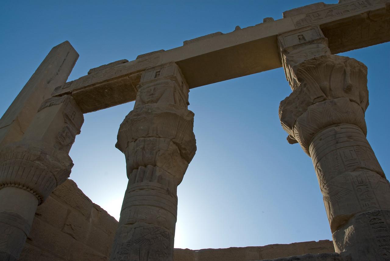 Backlit Pillars- Philae Temple, Aswan, Egypt