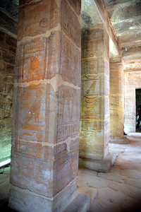 The temple was dedicated to Amun-Re and Re-Horakhty, but was desecrated during the Amarna period.  However it still contains important historical texts concerning, e.g., a military campaign into Asia.