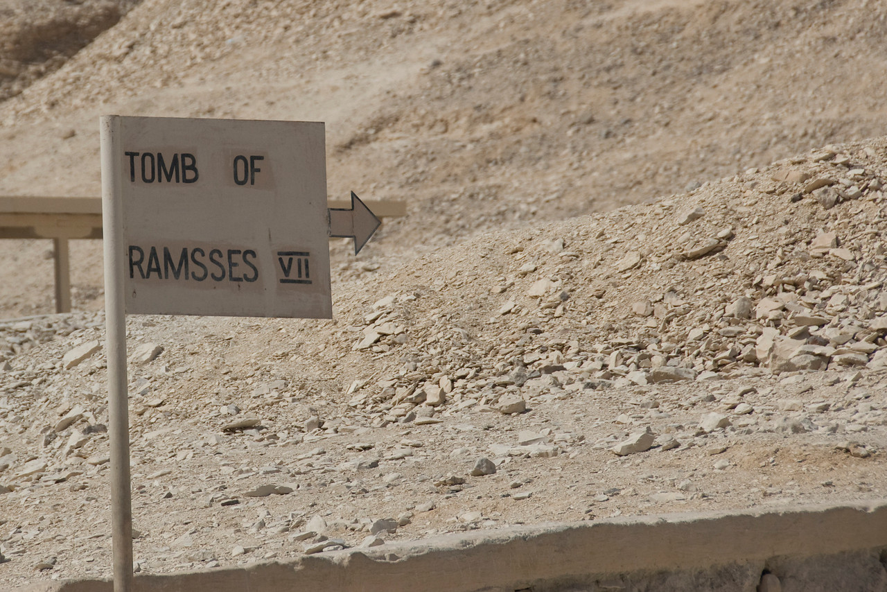 Ramses VII Sign - Valley of the Kings, Egypt