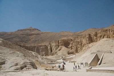Tombs and Mountain - Valley of the Kings, Egypt