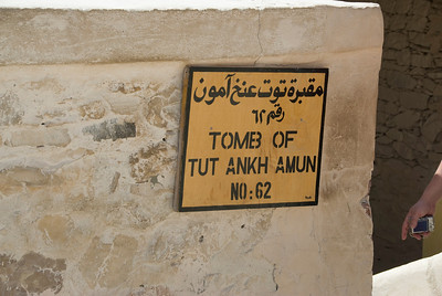 King Tut Tomb Sign - Valley of the Kings, Egypt