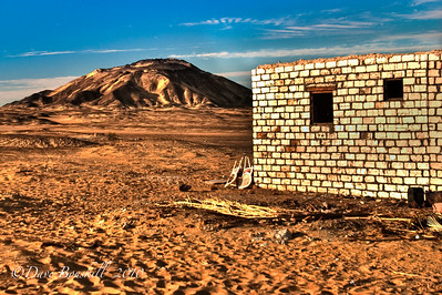 The Black Desert in Northern Egypt. HDR