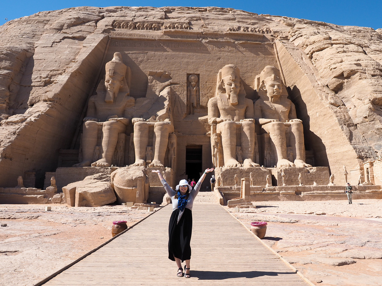Amanda at Abu Simbel in Egypt
