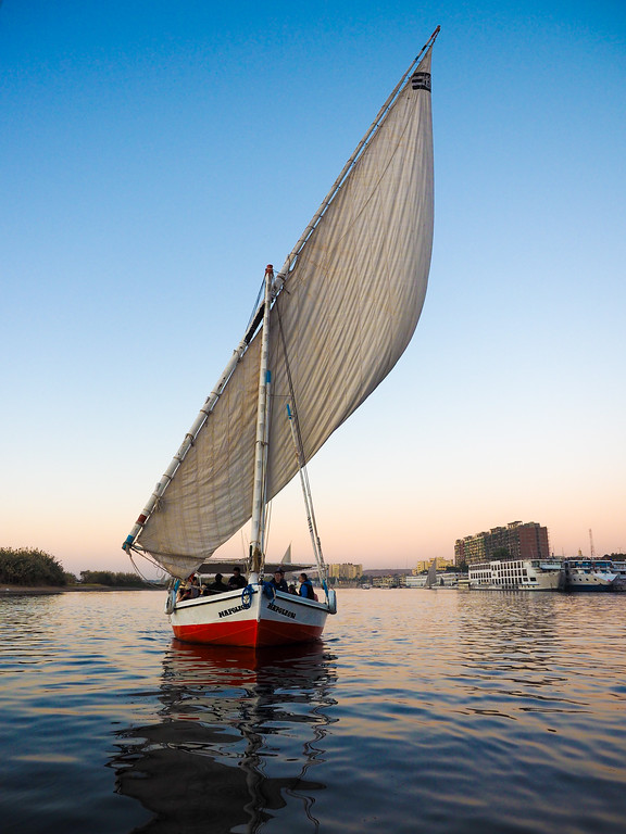 Felucca in the Nile river