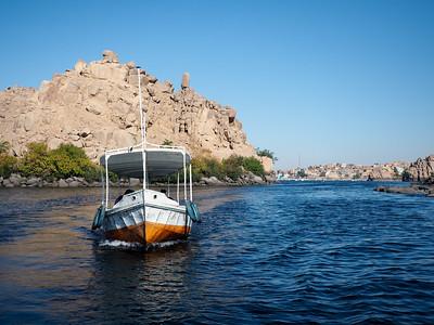 Boat ride in Aswan, Egypt