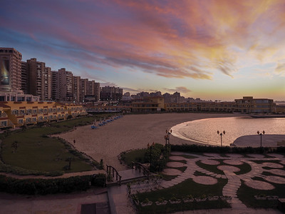 Sunset in Alexandria, Egypt