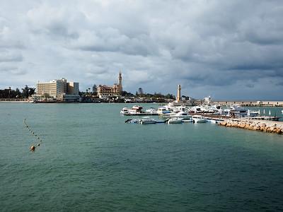 Mediterranean Sea in Alexandria, Egypt