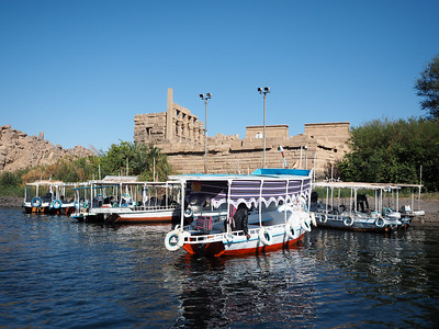 Boats at Philae Temple