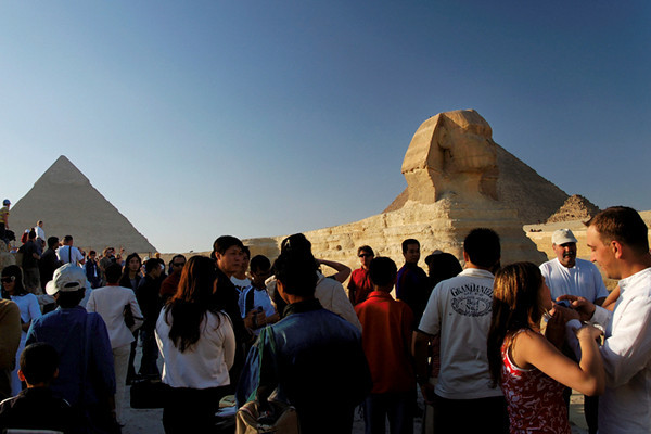 Pyramid of Chephren and Sphinx, Giza