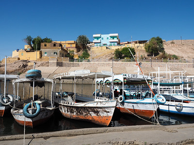 Boats in Aswan, Egypt