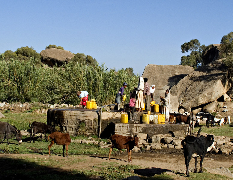 Well, at the foot of Debre Sina