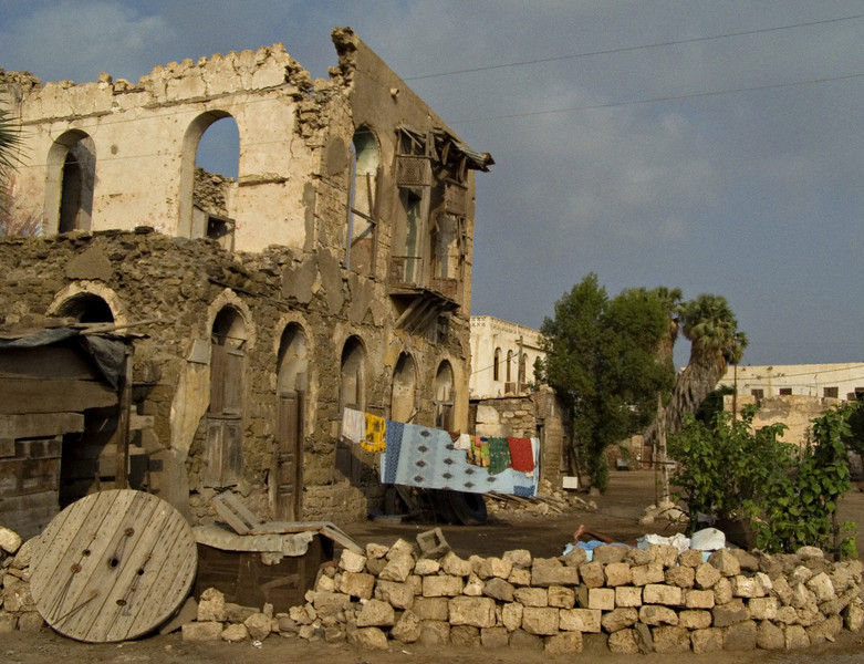 House, Massawa.  I didn't realize until after I'd taken the photo, but there's someone sleeping at lower right.