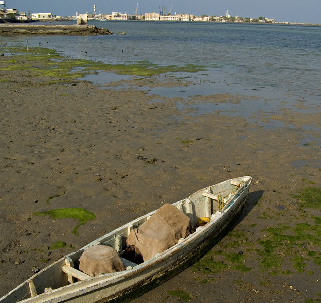 Boat, Massawa.  This was taken from Taulud Island looking toward Massawa Island.