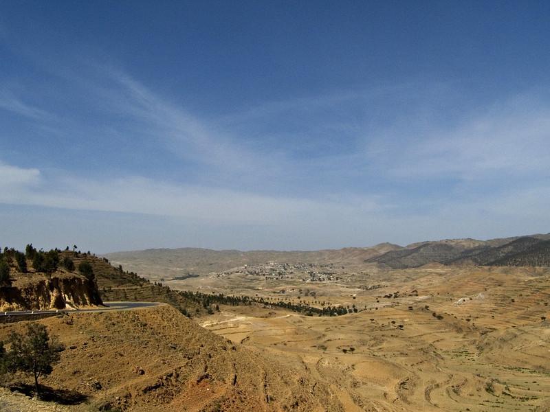 Between Asmara and Keren.  I rented a car and headed north to Keren.