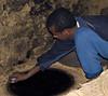 Making injera, Debre Bizen