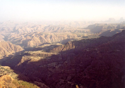 View of Simien mountain lowlands from near Imet Gogo