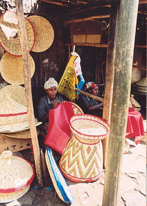 Basket seller, Merkato market, Addis Ababa