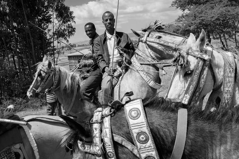 Oromo Horsemen, Near Ambo, Western Highlands