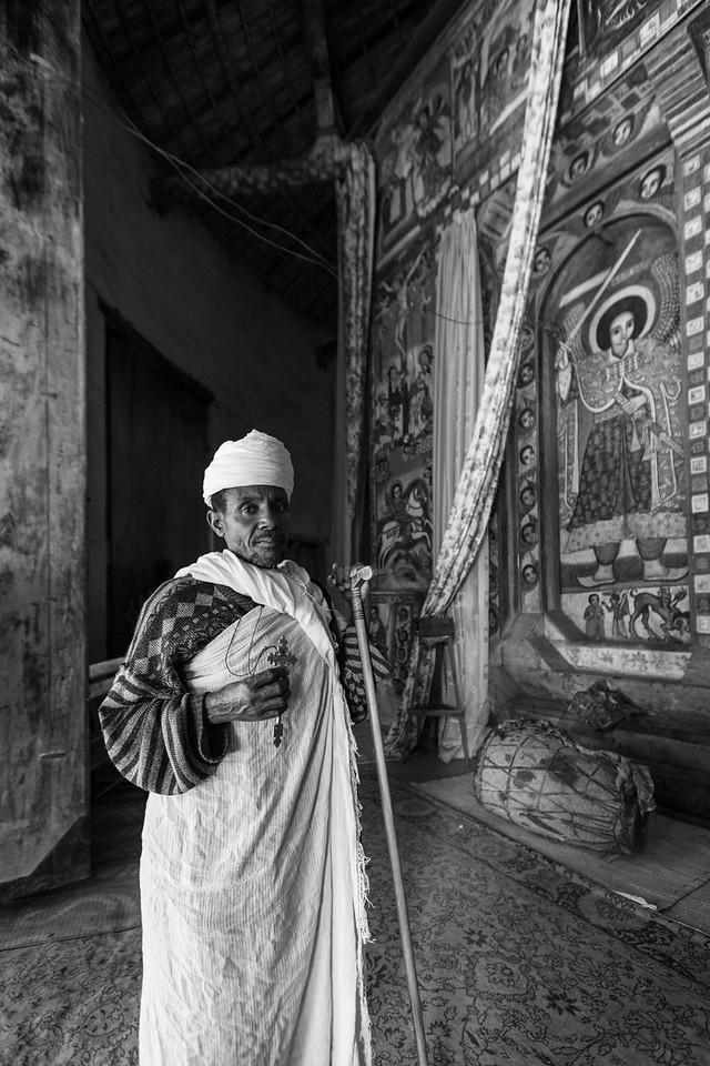 Priest, Narga Selassie, Lake Tana