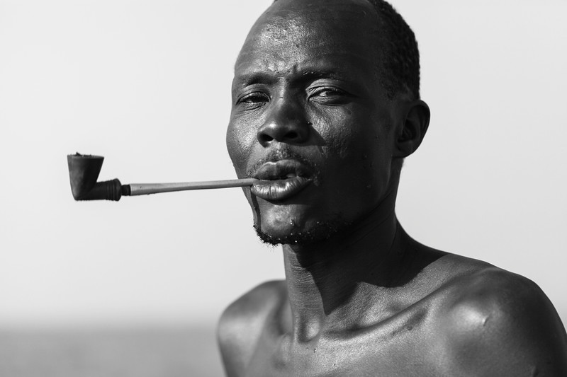 Nuer Man, Makuey Area, Gambella