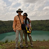 """With Shuang at """"Satan Lake"""" near Northern end of Omo Valley, Ethiopia"""