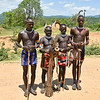 Benna Tribal People, Boys on Way to Bull Jumping Ceremony, Omo Valley