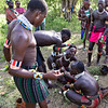 Benna Males Applying Face Paint in Prep for Bull Jumping Ceremony